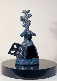 Growing Stronger, Melanie Yazzie bronze sculpture, woman bird fish heart & spine