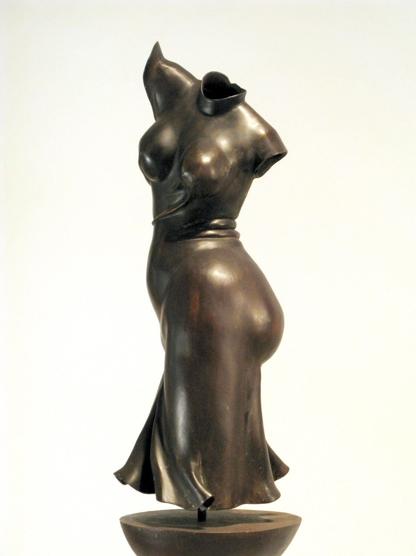 Fandango by Rodger Jacobsen figurative bronze sculpture welded steel pedestal