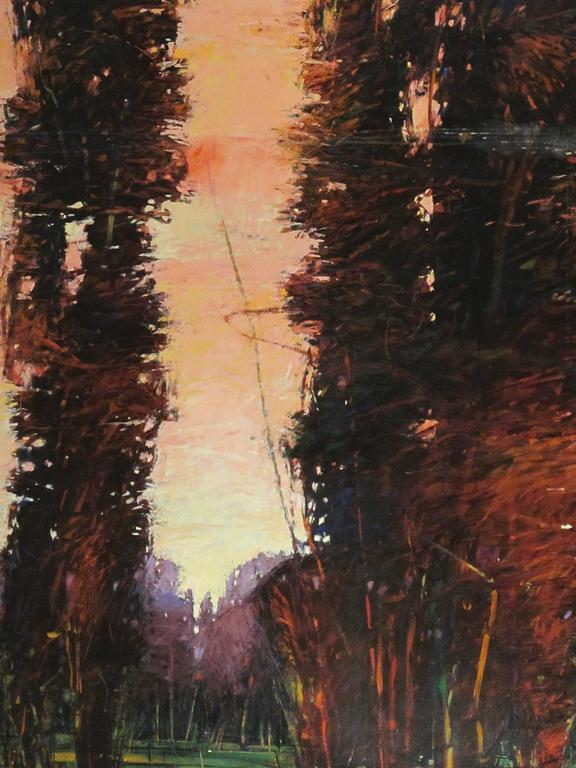 John Fincher Big Tesuque Poplars Painting For Sale At