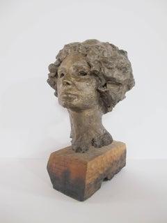 Eilene, bronze portrait, female by John Waddell, Arizona sculptor