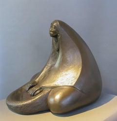 Corn Grinder, limited edition bronze sculpture lifetime casting Apache