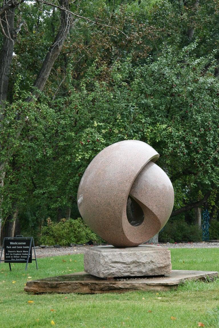 Embraced, Khang Pham-New, granite abstract, folded, sculpture, outdoor art - Sculpture by Khang Pham-New