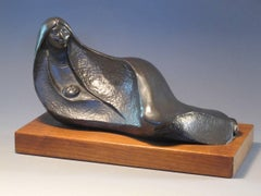 Afternoon Rest, bronze, reclining Native American woman