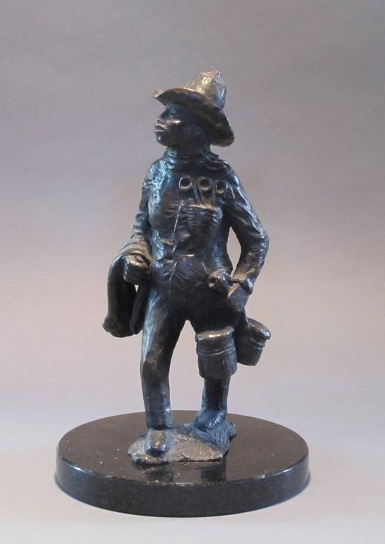 Standing Apache Drummer, bronze sculpture, Allan Houser,solid cast, Nambe - Sculpture by Allan Houser (Haozous)