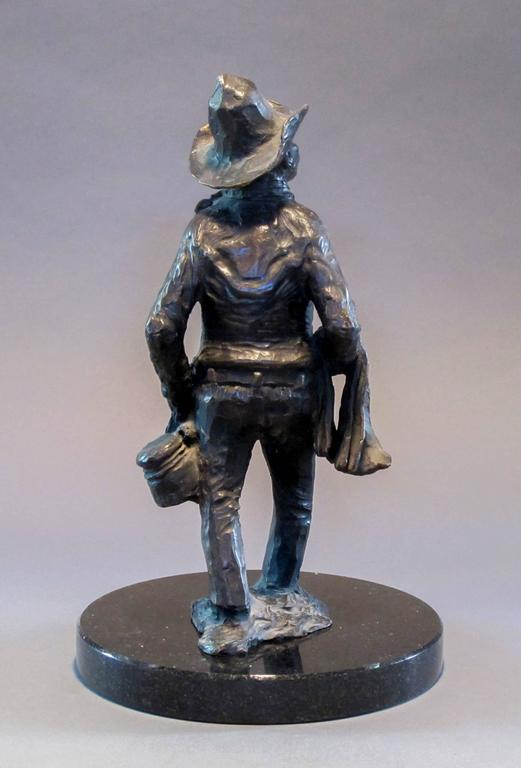 Standing Apache Drummer, bronze sculpture, Allan Houser,solid cast, Nambe For Sale 3