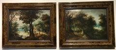 Hunters Shooting Geese, old masters Dutch painting pair attrib. to Vinckboons