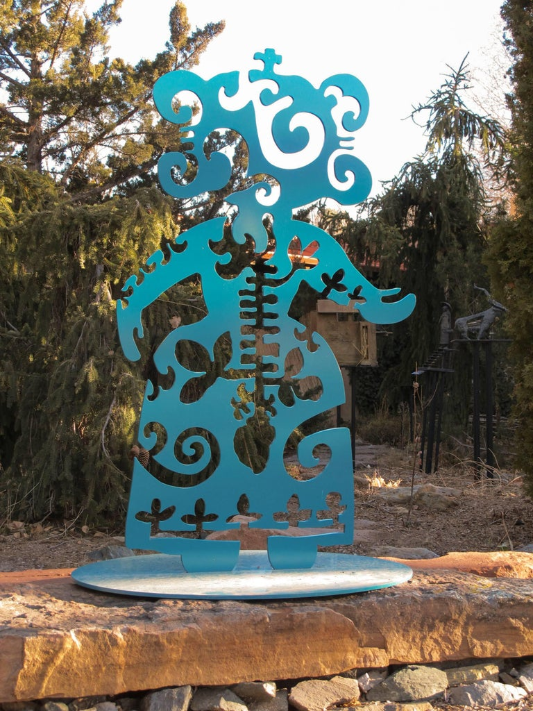 Strength From Within, aluminum, turquoise, Navajo, sculpture, Melanie Yazzie For Sale 1