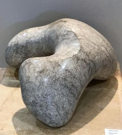 Abstract Image, unique, stone, Apache, Allan Houser Haozous, gray, white marble