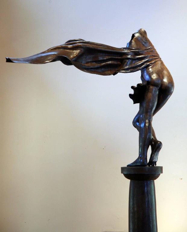 Long Gone, female nude bronze sculpture