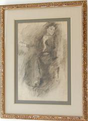 Early 20th Century French School Pencil Drawing of a Woman
