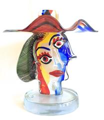 Murano Glass Sculpture Homage to Picasso