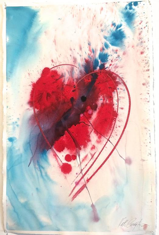 """paper size 26""""x40"""" framed 32""""x46"""" under plexiglass, white frame  Allegories of Love Series Keith Carrington's experiences have led him to express his talents through the fluid and exacting mediums of watercolor and ink. He"""