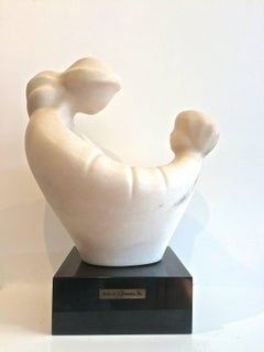 Woman with Child Marble Sculpture
