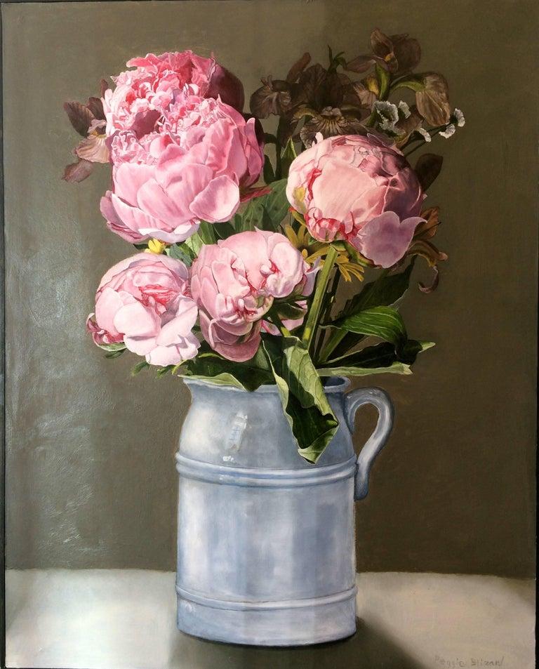 Peggie Blizard Still-Life Painting - Pink Peonies