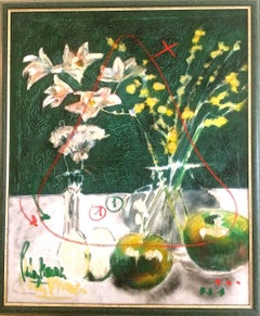 Still Life with Apples and Flowers
