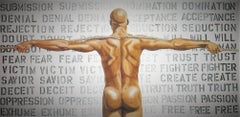 State of Mind Robert Mapplethorpe model Ken Moody Large Painting