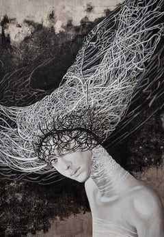 Arachne Woman in Grey and Black Contemporary