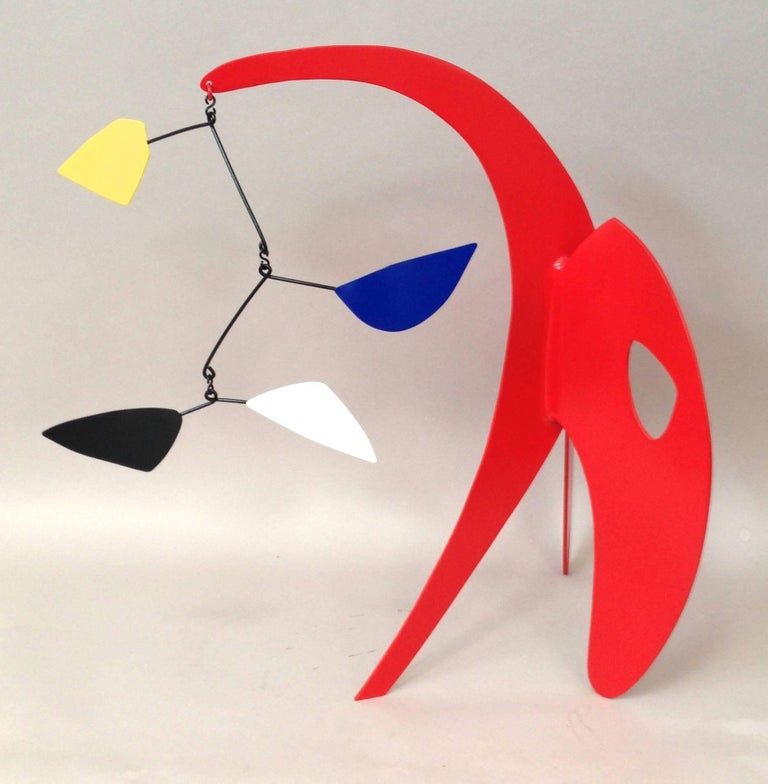 21 high, 15 wide, 8 deep, painted aluminum.  Joseph Meerbott has been constructing bronze, metal sculptures and ceramics for over 30 years. Schooled at Florida Atlantic University, with a BA in Fine Arts, his education covers a broad spectrum of
