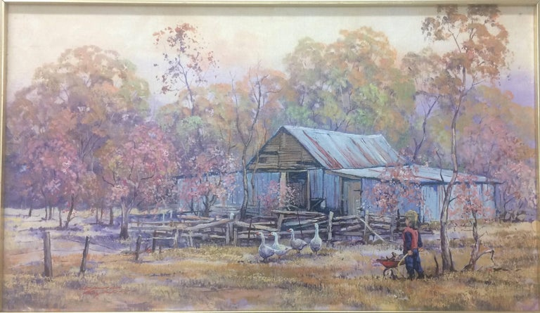 David Beard Landscape Painting - Landscape with Barn