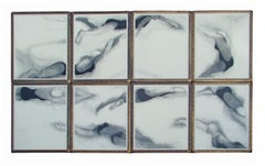 Swimmers Large Eight-Panel Painting Drawing