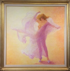Hommage a Loie Fuller (Tribute to Loie Fuller) Large Nude in Pink