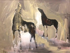 Horses Abstract Expressionist