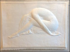 Nude Cast Paper Wall Sculpture