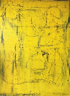 Tracks of the Future (Large Yellow Abstract Expressionist)