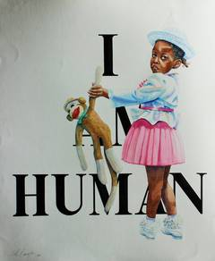 I am Human work on paper