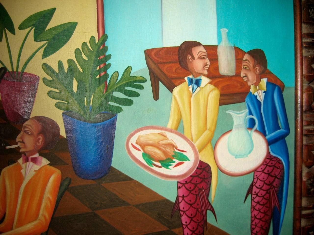 Surrealist Restaurant Scene with Mermades and Mermen 7
