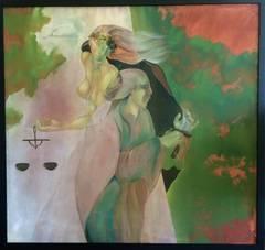 Man and Woman Surrealist Art