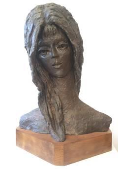 Bronze Sculpture Woman Bust