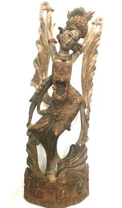 Wood Sculpture of a Dancer Bali