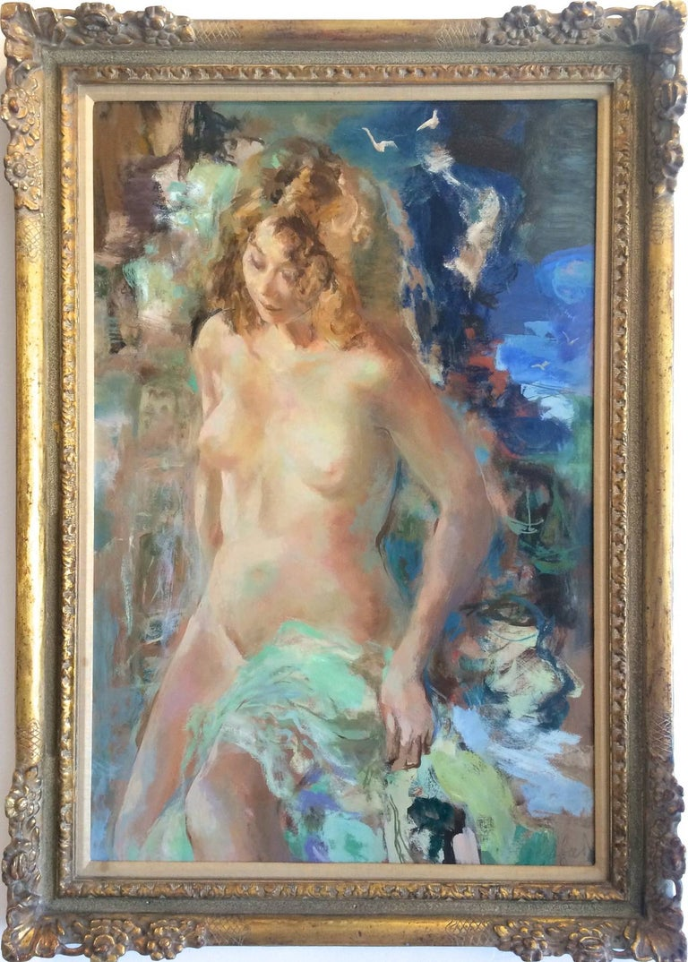 Wallace Bassford Figurative Painting - Morning Swim