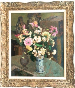 Still Life With Bouquet of Pink Flowers