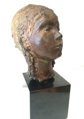 Bronze Sculpture Head of a Young Girl