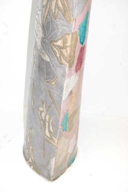 Large Raku Pottery Sculptrue Double-Sided  For Sale 5