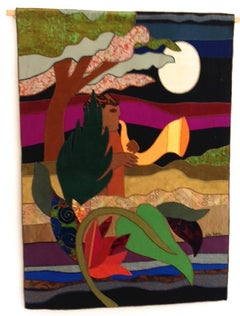 Large Fabric Collage Tapestry