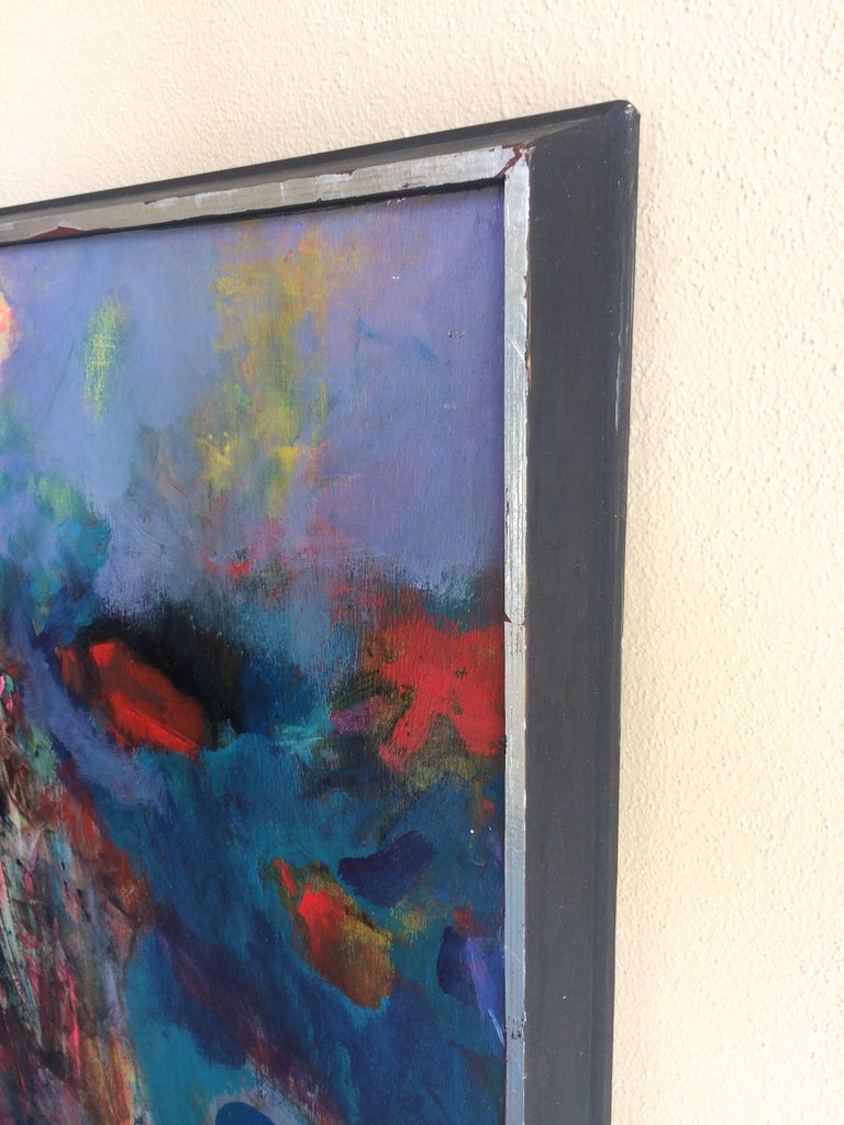 Size:36x40 framed 38x42  Francis J. Meyers is 20th Century American artist, she was active/lived in Ohio.  Francis Meyers is known for figures and abstract paintings. A member of the faculty of the Cleveland School of Art.