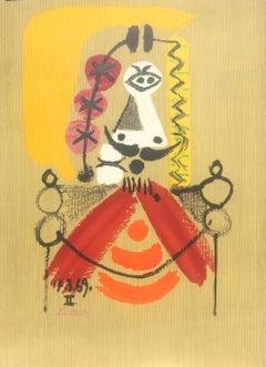 "Pre-text Exhibition poster for ""Picasso: Portraits Imaginaires"""