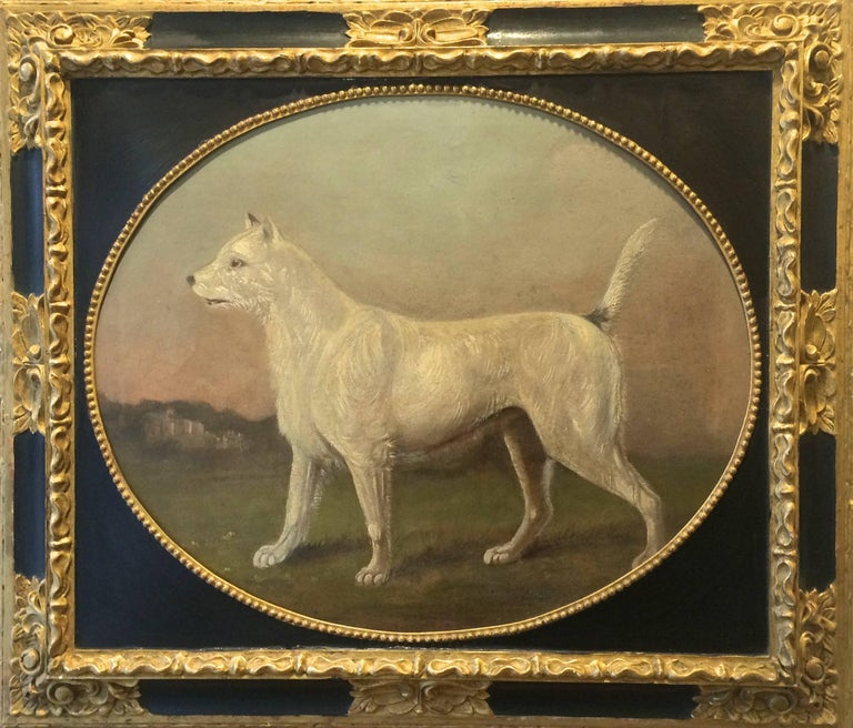 Gourlay Steell Animal Painting - 19th Century Primitive Portrait of a Dog