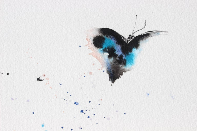 Rise Blue Butterfly Watercolor - Art by Keith Carrington
