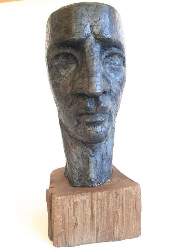 Donald Odysseus Mavros Figurative Sculpture -  Head of a Man Modern Sculpture