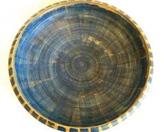 Stoneware Blue Plater