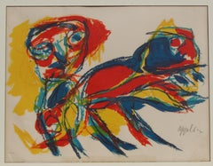 Abstract Expressionist Color Lithograph