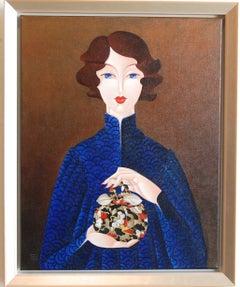 Furoshiki Woman in Blue