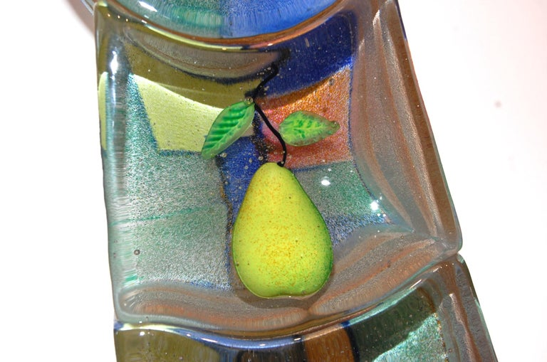 Stephanie Trenchard Art Glass Sculpture Sand-cast blacks sculpted and painted inclusions three separate pieces. Size: 20x7.5x5   Stephanie Trenchard was born in Champaign, Illinois in 1962.  Trenchard holds a bachelor of fine arts degree in painting