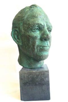 Head of a Man Bronze Sculpture