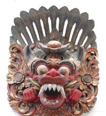 Barong Mask Bali 19th Century Wood Sculpture