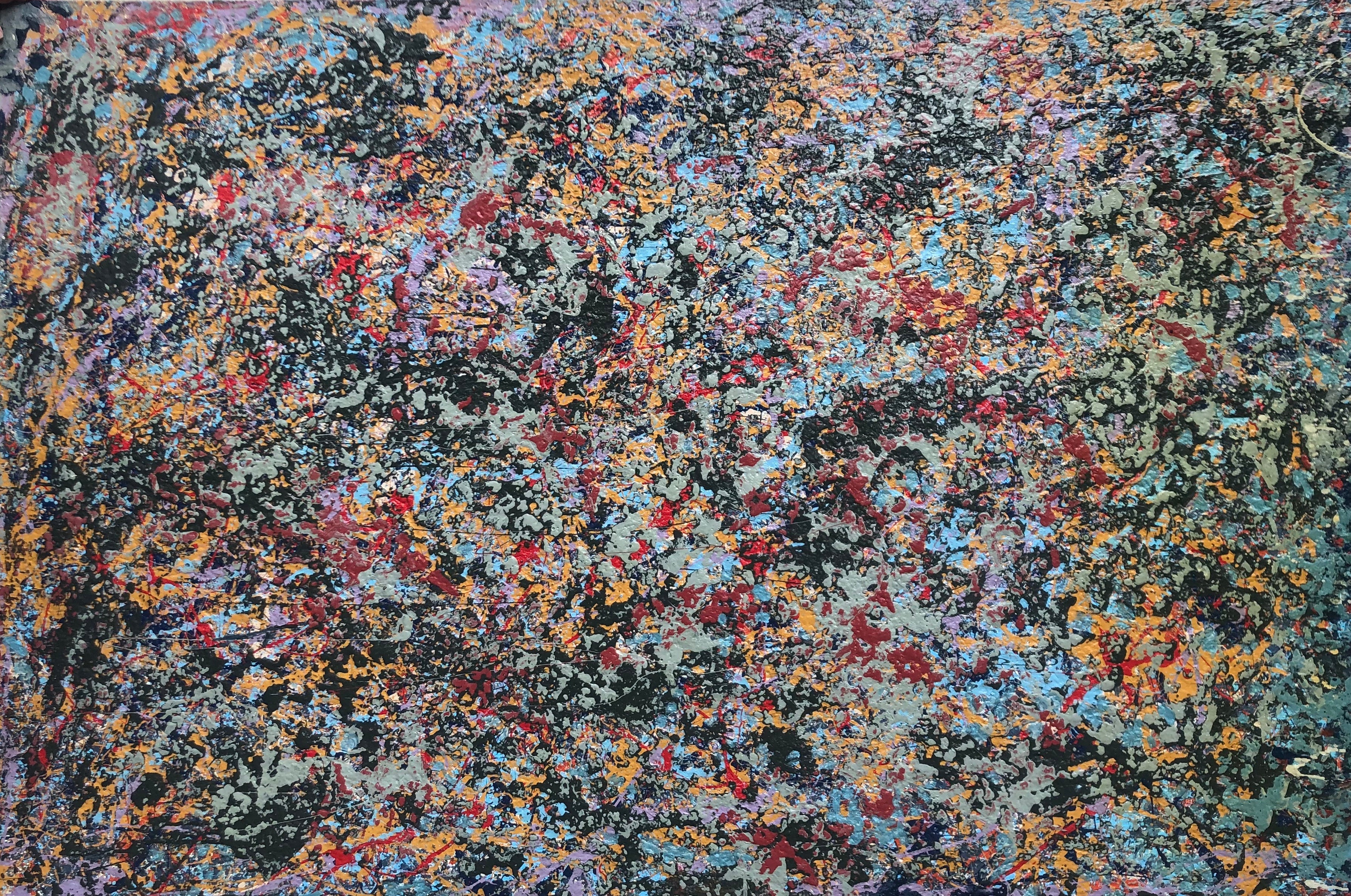 Galaxy Drip Abstract Painting